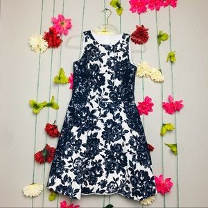 Jessica Simpson Blue Lace fit and flare dress 6